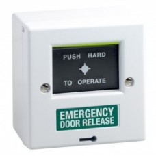 STPBGU1  -Surface Mount White Break Glass Unit With Change over Contact Marked Emergency Door Release - Resettable