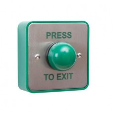 STPSPB004S  -Surface green dome exit button 'PRESS TO EXIT'